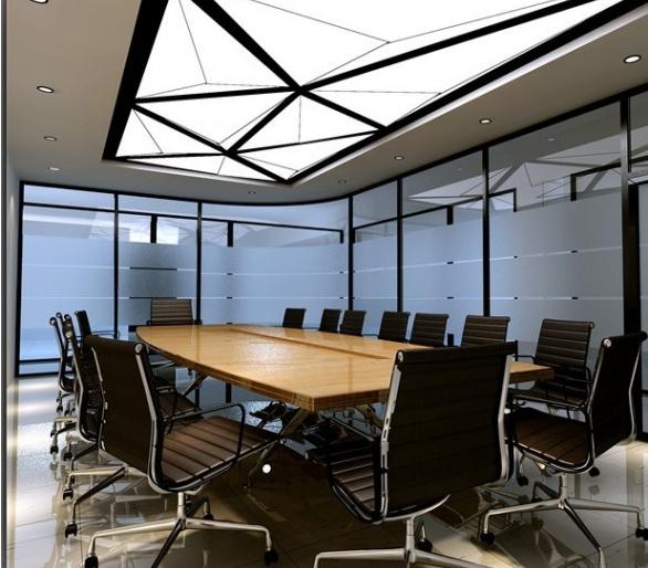 会议室背景墙设计装修效果图_幼儿999