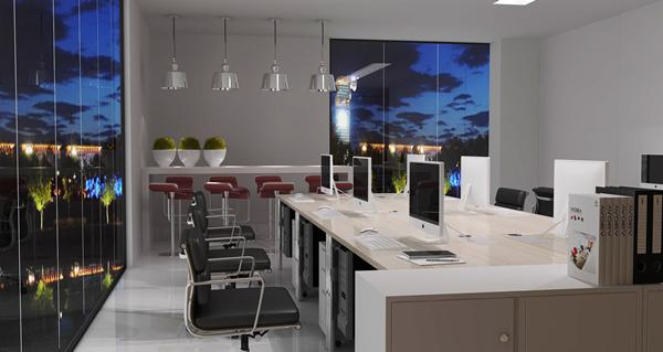 雅帝家具公司非传统办公室设计效果图